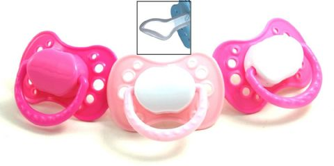 Griptight 3 Orthodontic Soothers (Silicone) 0 months+ (Pink)